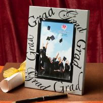 Silver Border Graduation Photo Frame